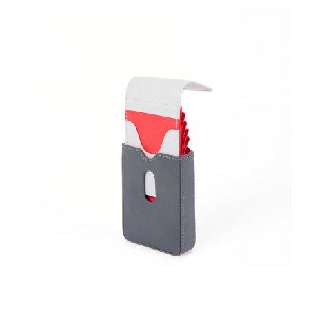 Porta carte di credito con estrazione facilitata