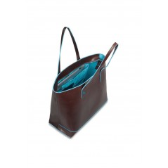 Shopping bag in pelle sfoderata