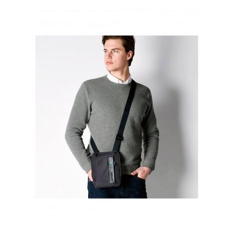 Borsello porta iPad mini in tessuto e pelle